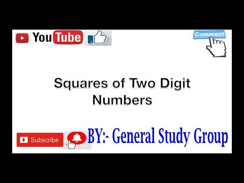 Square of Two Digit Number Trick in Hindi BY - General Study Group