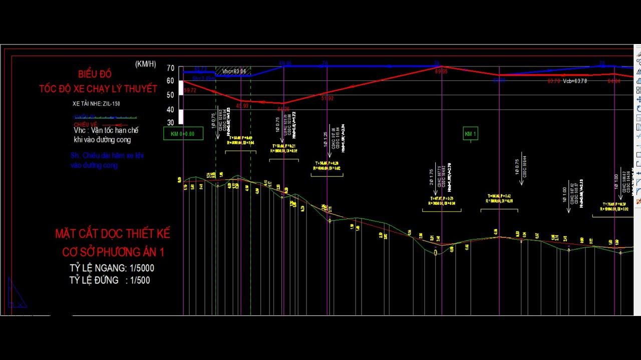[13] Hướng dẫn vẽ biểu đồ vận tốc xe chạy - Đồ án đường