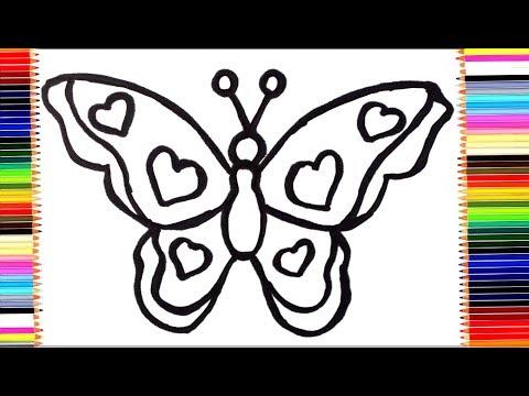 Как можно раскрасить бабочку