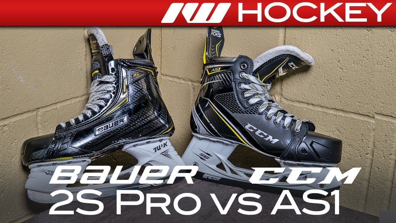 bc5f3d2bf6e Bauer Supreme 2S Pro vs. CCM Super Tacks AS1 Skates    Tech   Spec  Comparison