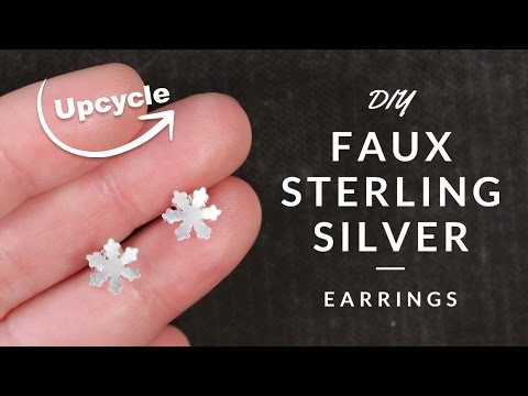 DIY Faux Sterling Silver Earrings  | Upcycle Crafts
