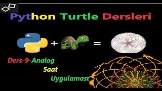 Python Turtle Dersleri- 9-  Analog Saat Uygulaması screenshot 5