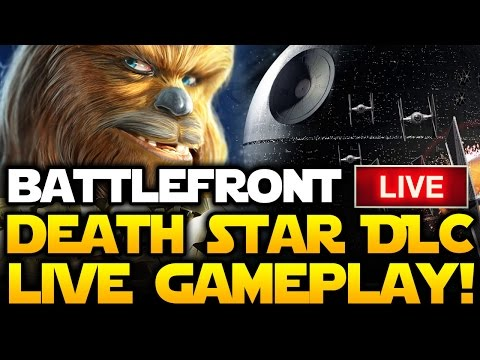 Star Wars Battlefront LIVE Death Star DLC Gameplay Celebration! New Weapons, Chewbacca, Bossk!