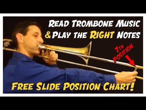 Trombone Slide Position Chart - How to Read Notes