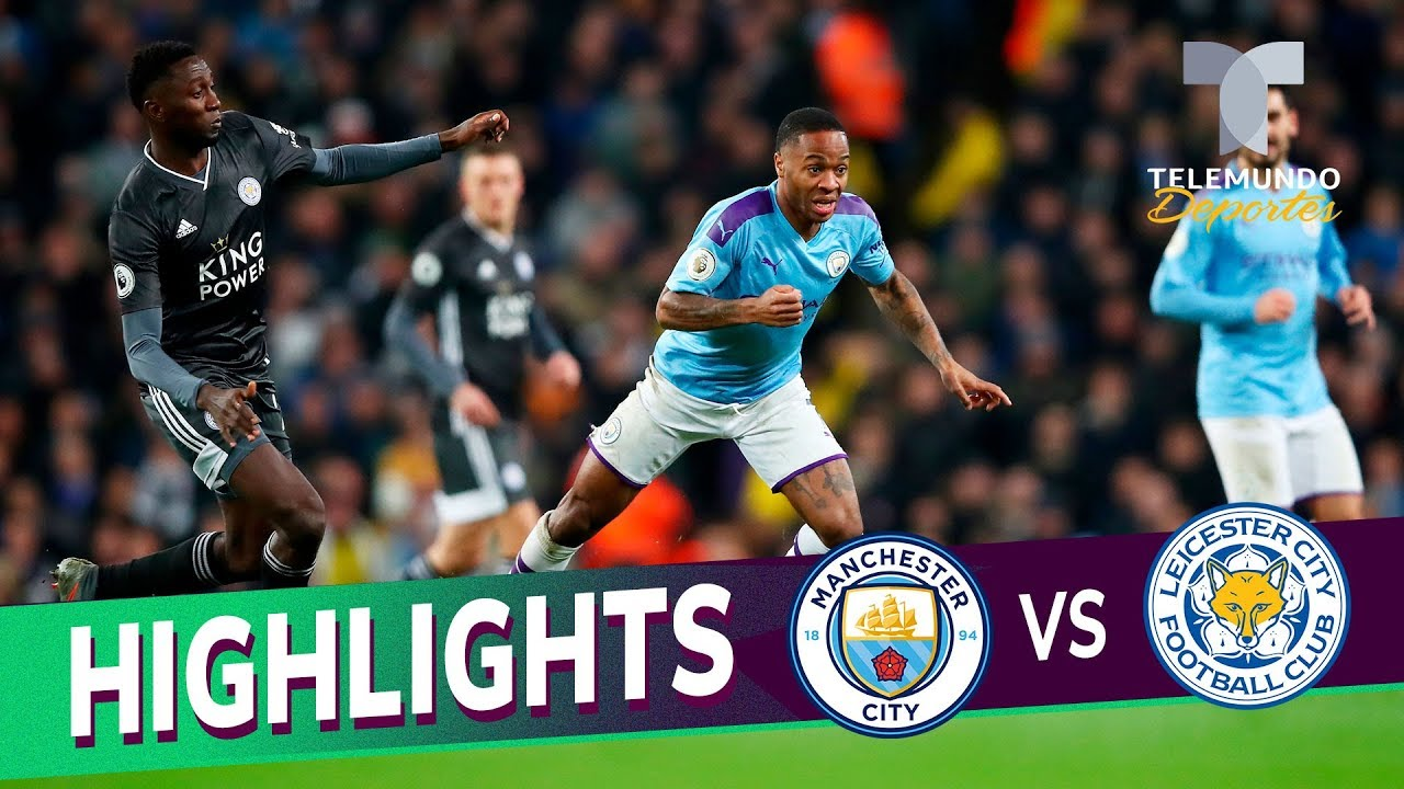Manchester City Vs Leicester City 3 1 Goals Highlights