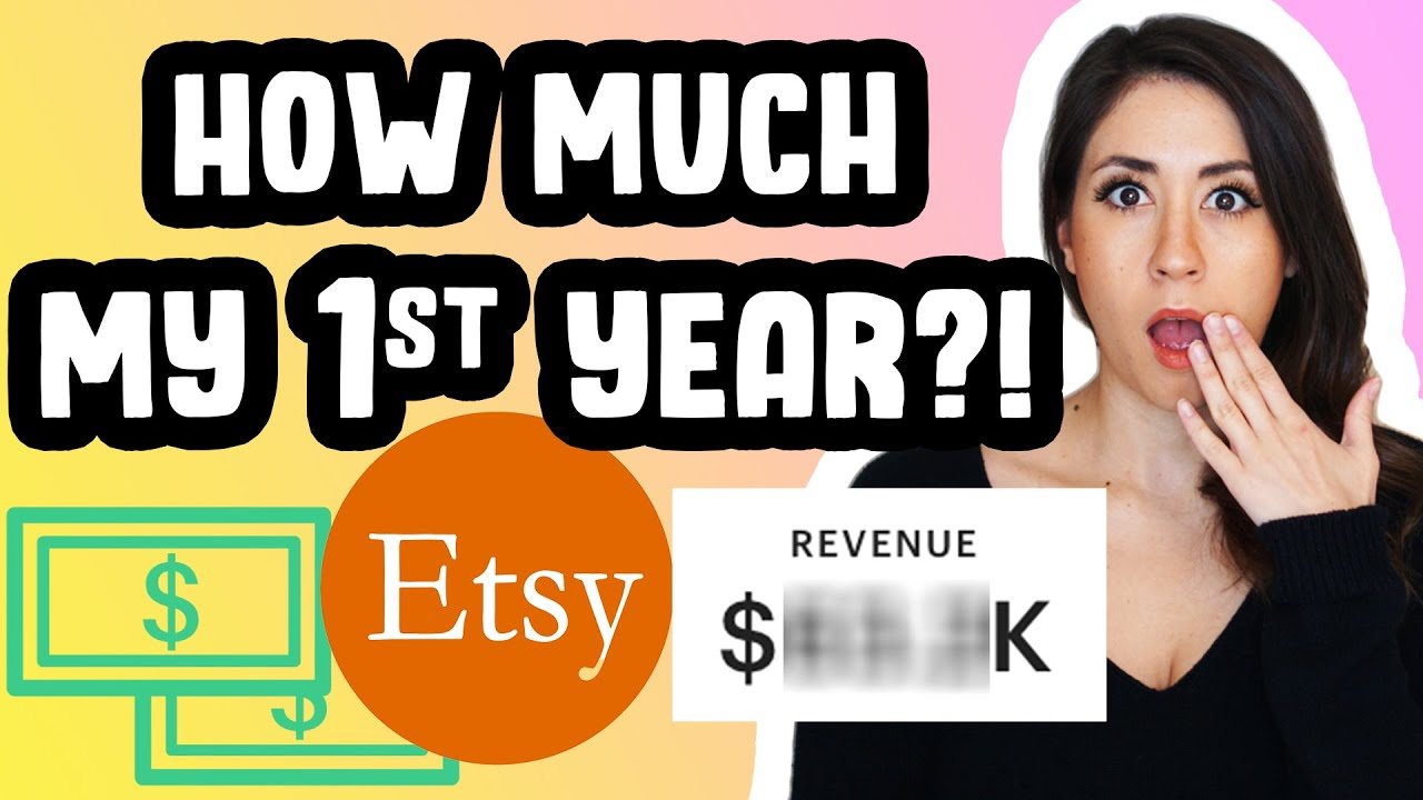 HOW MUCH DOES IT COST TO SELL ON ETSY?! What I made in my FIRST year | Etsy Fees & taxes EXPOSED