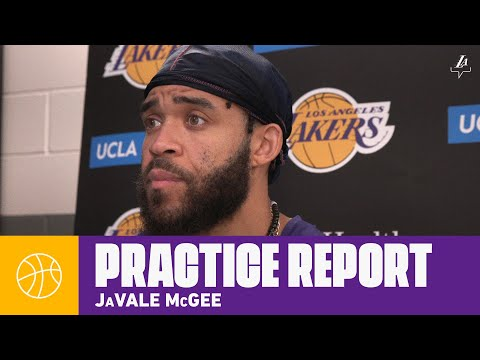 JaVale McGee talks team chemistry, and how it has improved in Orlando | Lakers Practice