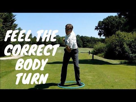 Feel The Correct Body Turn in the Golf Swing