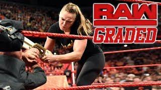 WWE Raw: GRADED (18 June)   Ronda Rousey Destroys Alexa Bliss & Kurt Angle