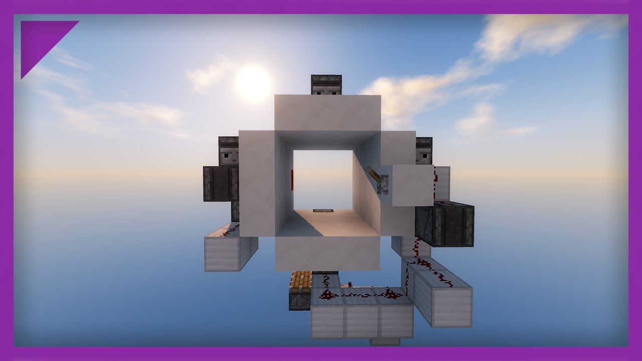 minecraft 3x3 piston door different animation
