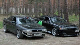 vuclip Toyota Mark II jzx90 and Toyota Chaser jzx90 drift