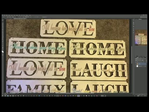 Laser Cut Mother's Day Sign