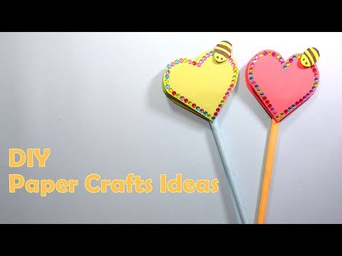 DIY Paper Craft - How To Make Heart Shaped Notebook