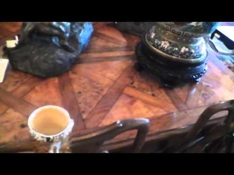 Burr Walnut Parquet Table