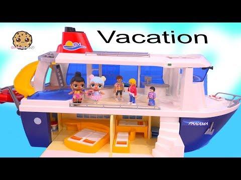 Strange Cruise Ship Trip - LOL Surprise Dolls On Playmobil Vacation  Part 4
