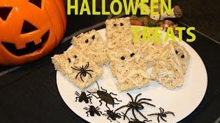 HALLOWEEN PARTY IDEAS Treats Easy Yummy Fast Rice Crispy Mummies Make at home