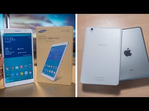 Samsung Galaxy Tab Pro 8.4 - Unboxing (and a quick iPad Mini comparison!)