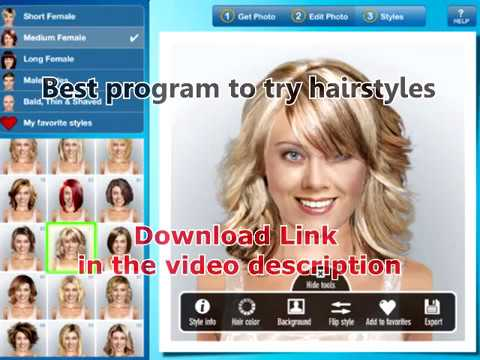 instyle hairstyle try on app - YouTube