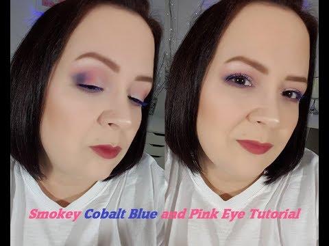 Smokey Cobalt Blue/Pink Eye Makeup Tutorial Video