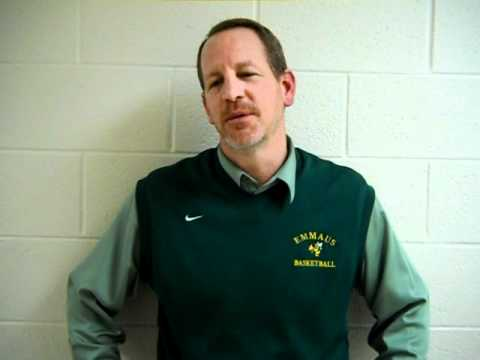 Emmaus boys basketball coach Steve Yoder talks about his team's big road win over Freedom