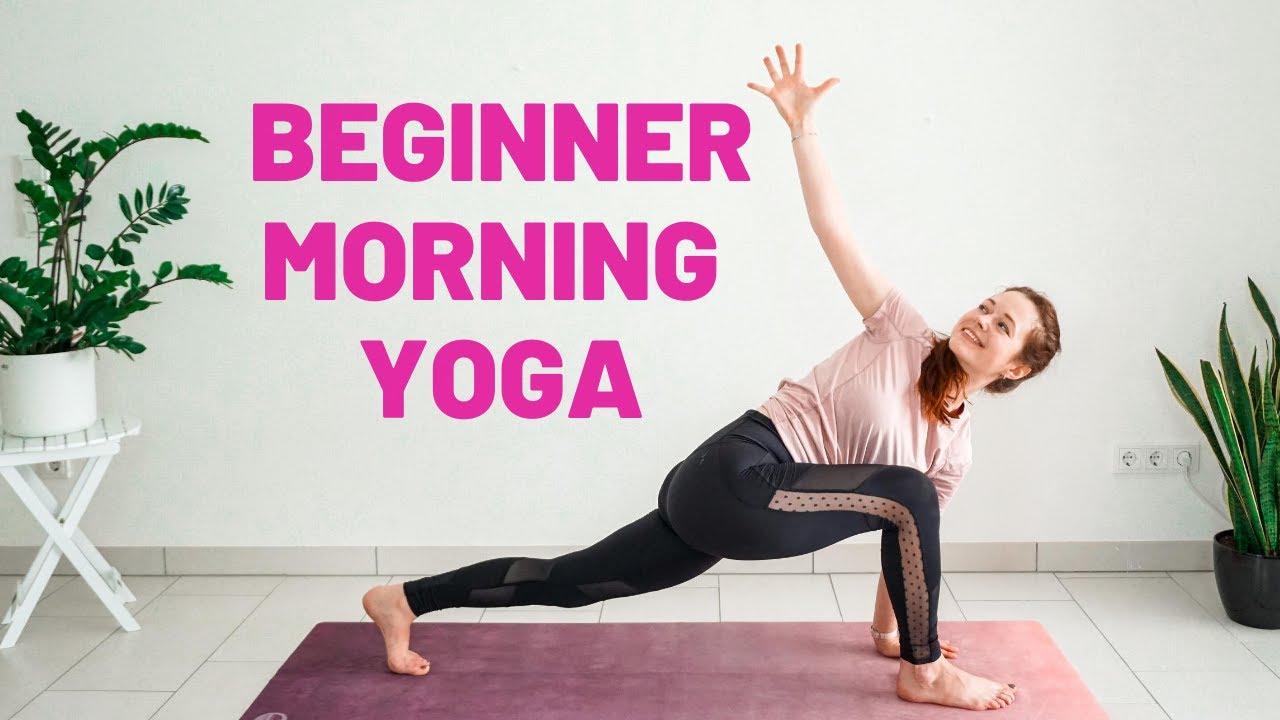 10 Min Beginner Morning Yoga Stretch Morning Yoga For Beginners Youtube