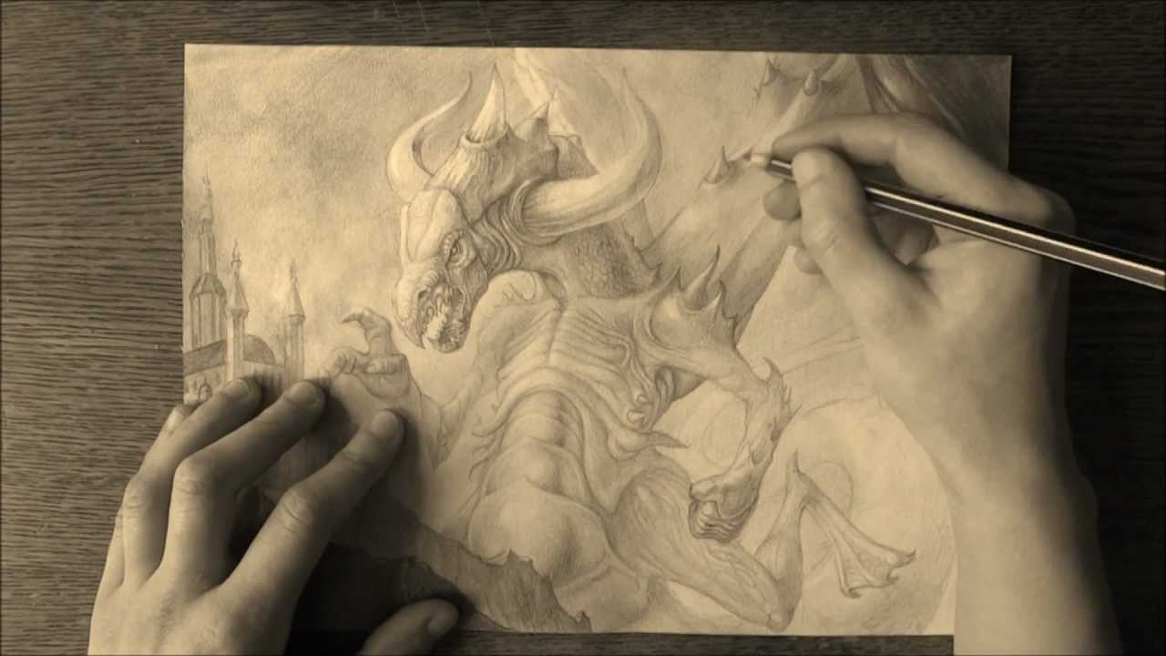 the dragon pencil drawing youtube