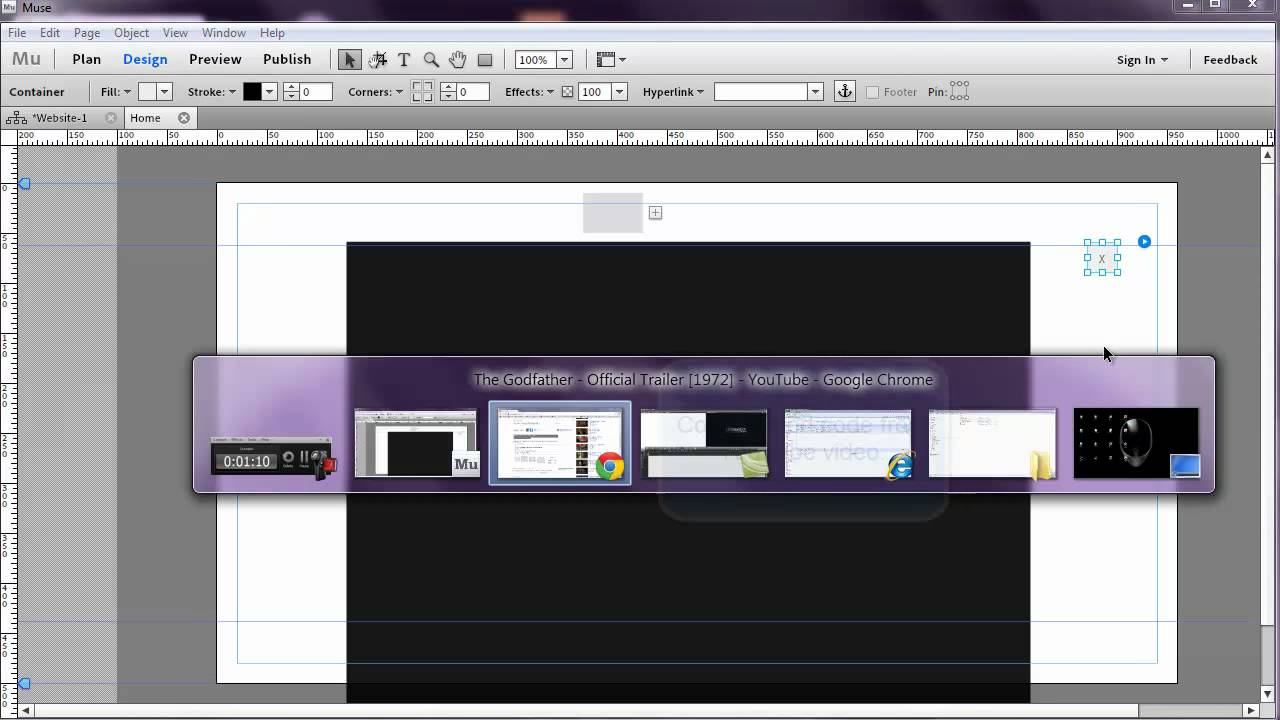 Adobe Muse - Lightbox Effect for YouTube Video