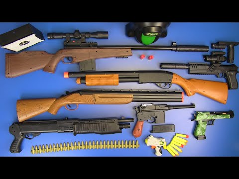 Box Of Guns Toys ⁕SNIPER RIFLES TOYS ,FORTNITE GUN,AIRSOFT GUN, SHOTGUN TOYS,HUNTING RIFLES TOYS