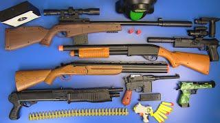 Box of Guns Toys ⁕SNIPER RIFLES TOYS ,FORTNITE GUN,AIRSOFT GUN, SHOTGUN TOYS,HUNTING RIFLES TOYS