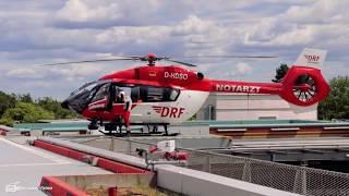 Alarmstart Hubschrauber Christoph Berlin am Unfallkrankenhaus Berlin