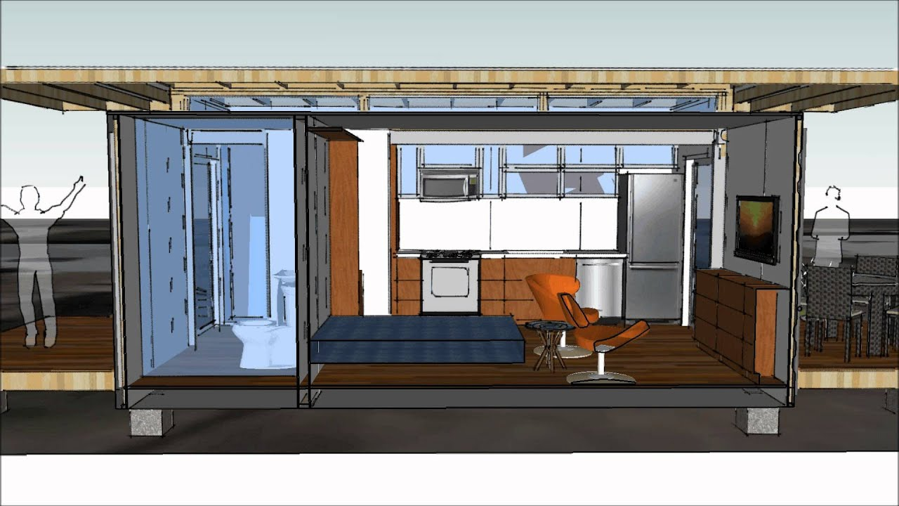 shipping container studio apartment - youtube
