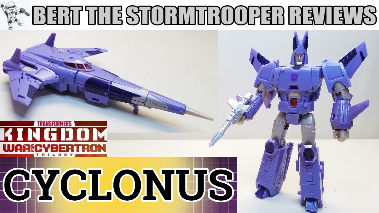 Transformers War for Cybertron Kingdom CYCLONUS Review by Bert the Stormtrooper!