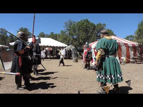 Knight Bannerette Tournament Round 1 with Salutes