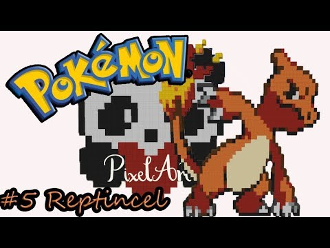Pg1 5 Reptincel Pixel Art Timelapse Minecraft Youtube