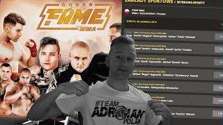 OBSTAWIAM WALKI NA FAMME MMA i rozdaje 8 biletów za 1600 ZŁOTYCH !
