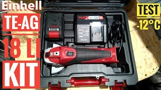 Einhell TE-AG 18 Li Kit X-Change TEST -12°C
