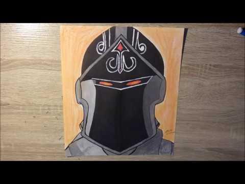 Comment Dessiner Le Chevalier Noir L Fortnite Battle Royal L Youtube