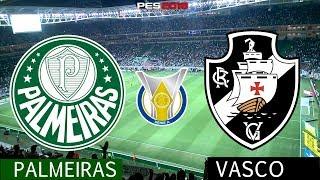 PES 2018 - Palmeiras x Vasco | Brasileirão 2018  Gameplay. PS4