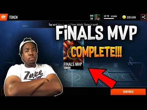 COMPLETING THE 100 OVR NBA FINALS MVP SET IN NBA LIVE MOBILE 18!!!