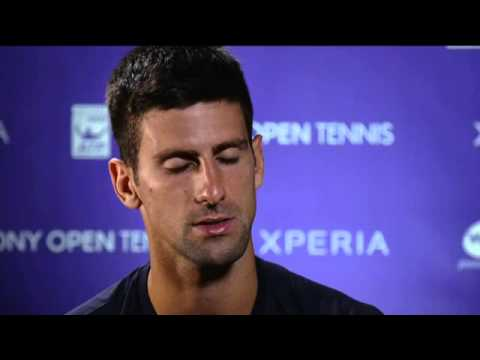 Sony Open Tennis Interview with Djokovic 3-26