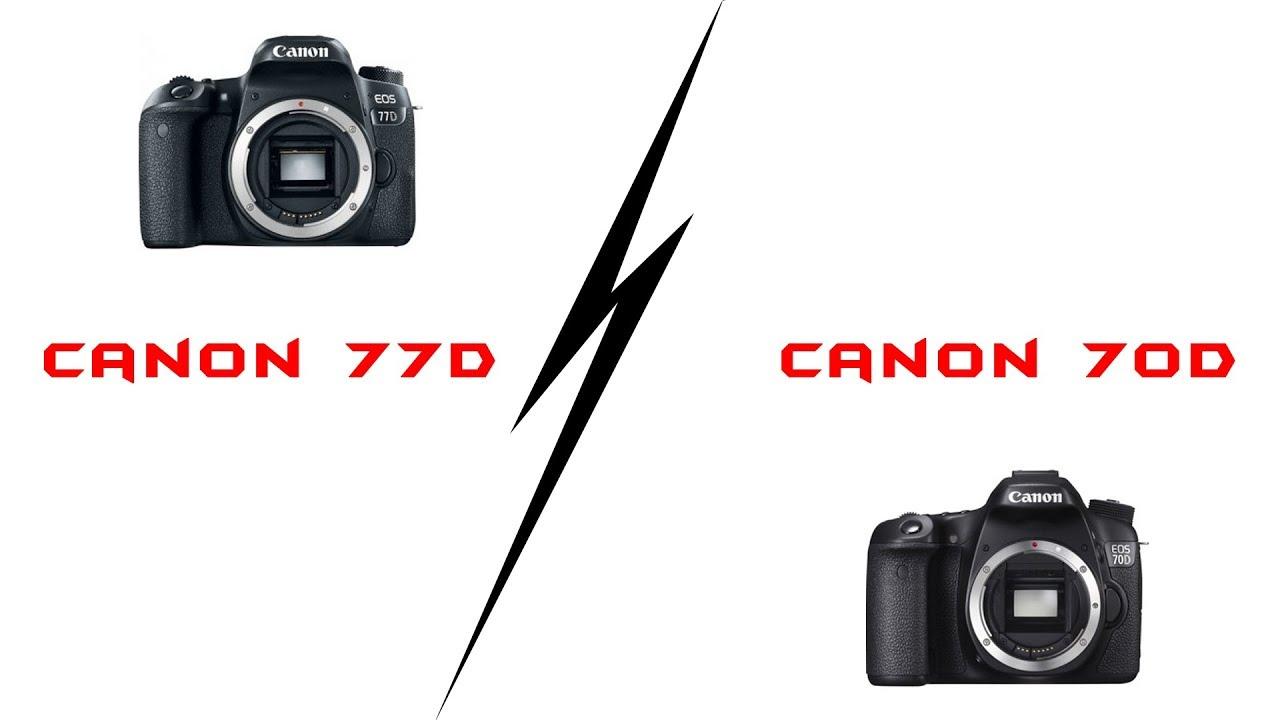 Canon 77D vs Canon 70D