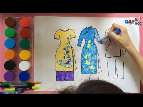 Dạy bé học tập vẽ áo dài Việt Nam   Day be hoc tap ve ao dai viet nam   Dạy bé học   Day be hoc
