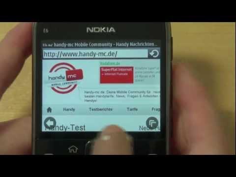 Nokia E6 Test Internet