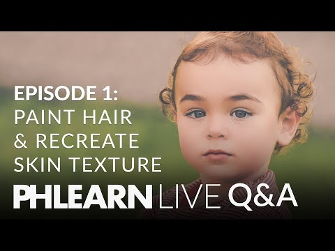 LIVE Q&A | Paint Realistic Hair and Recreate Skin Texture in Photoshop!