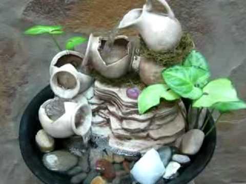 Fuente de agua feng shui prosperidad cuatro caidas c for Cascadas de agua artificiales para jardin