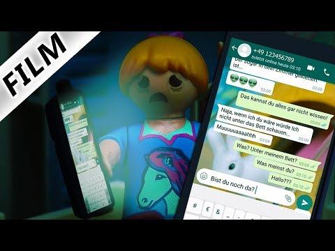 Playmobil Film Deutsch GRUSELIGE WHATSAPP NACHRICHTEN MITTEN IN DER NACHT AN HANNAH! Familie Vogel