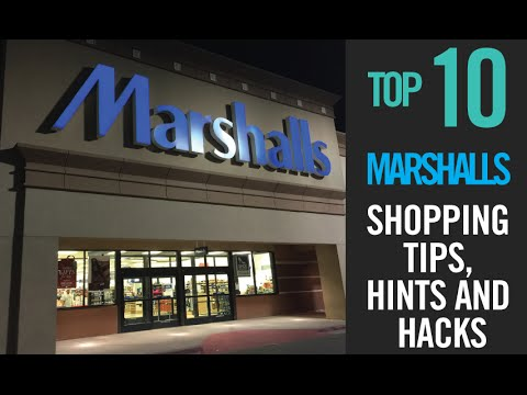 TOP 10 Marshalls Shopping Tips, Hints and Hacks