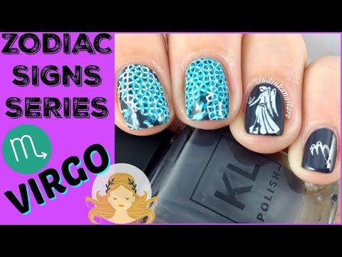 Nail Art Tutorial | Zodiac Signs Series | Virgo Stamping Manicure | KL Polish, MoYou London ✓ thumbnail