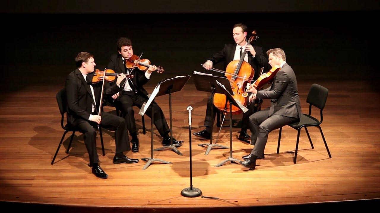 The Jerusalem Quartet performs Mozart Quartet K. 421, 4th movement