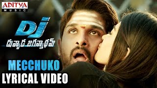 Mecchuko Full Song With Lyrics | DJ Songs | Allu Arjun | Pooja Hegde | DSP